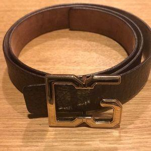 DG brown leather belt